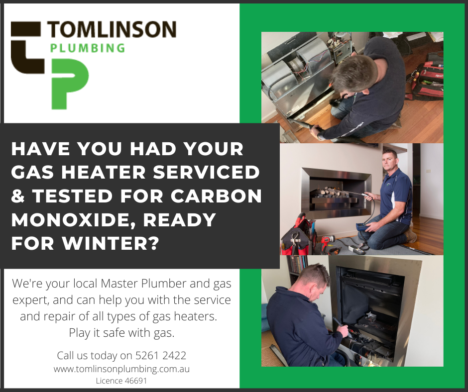 Gas Heaters | Carbon Monoxide Testing | Geelong | Torquay | Tomlinson Plumbing