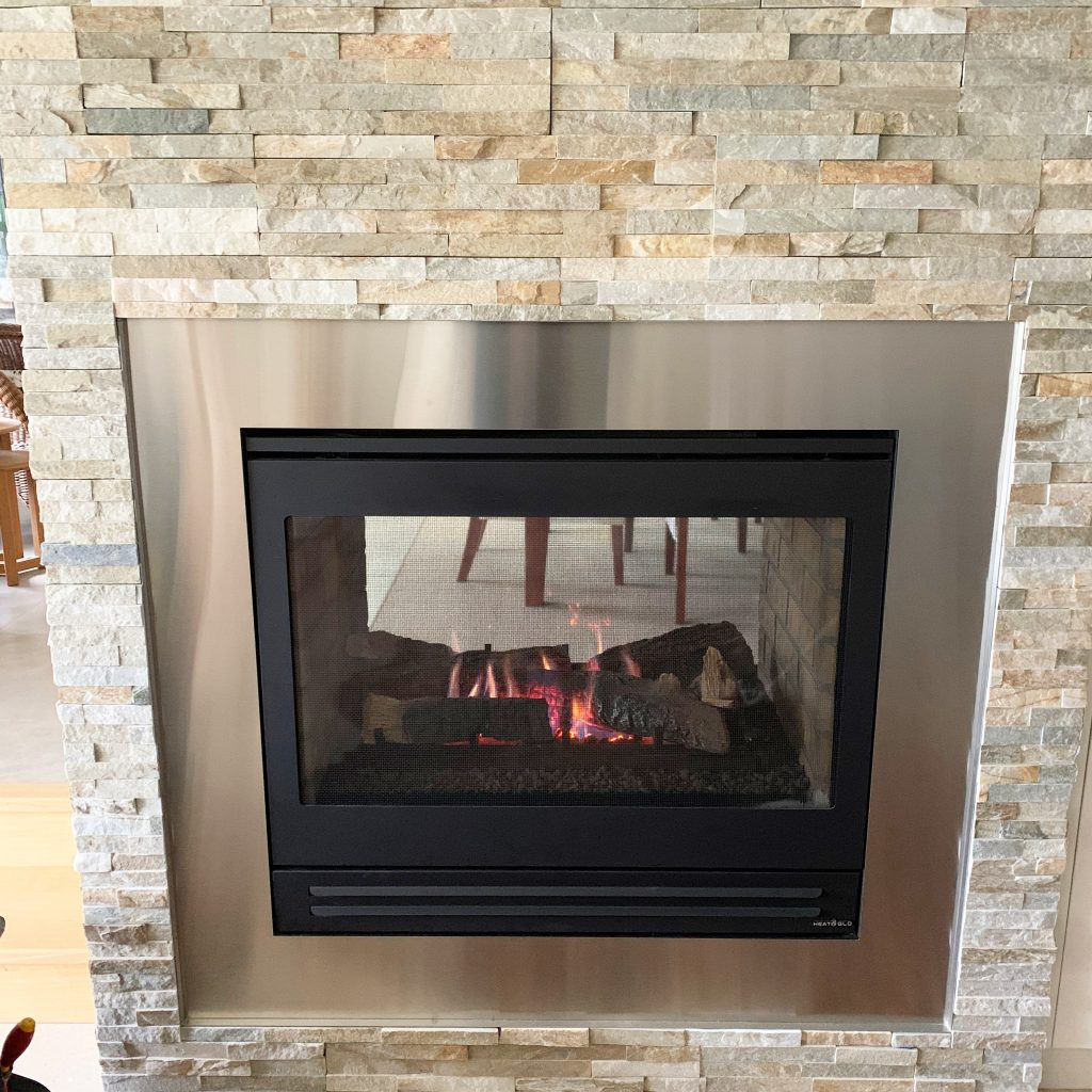 Heat & Glo double-sided gas log fire | Tomlinson Plumbing | Geelong | Torquay | Ocean Grove | Barwon Heads
