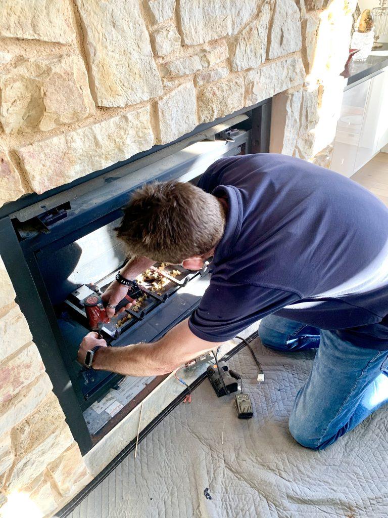 Heat & Glo gas log fire service & safety check | Tomlinson Plumbing | Torquay | Geelong | Ocean Grove | Barwon Heads